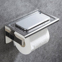 Load image into Gallery viewer, Bathroom Stainless Steel Toilet Roll Holder Wall Mount WC Paper Phone Holder Tissue Boxes Kitchen Paper Towel Holder