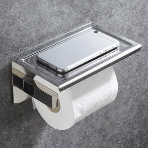 Bathroom Stainless Steel Toilet Roll Holder Wall Mount WC Paper Phone Holder Tissue Boxes Kitchen Paper Towel Holder