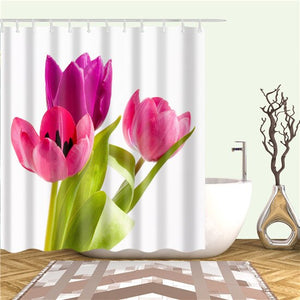 Colorful Flower Rose Dandelion Shower Curtains Bathroom Curtain Frabic Waterproof Polyester Bath Curtain Cortina Ducha
