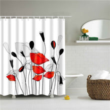 Load image into Gallery viewer, Colorful Flower Rose Dandelion Shower Curtains Bathroom Curtain Frabic Waterproof Polyester Bath Curtain Cortina Ducha