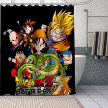 Load image into Gallery viewer, Custom Dragon Ball Shower Curtains DIY Bathroom Curtain Fabric Washable Polyester for Bathtub Art Decor Drop Shipping