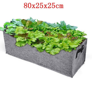 Nonwoven Fabric Raised Garden Bed Square Garden Flower Grow Bag Vegetable Planting Bag Planter Pot with Handles for Plant Flower
