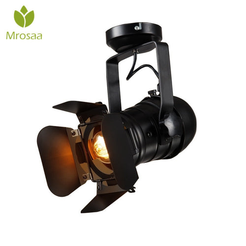1 Pcs Mrosaa Retro Minimalist LED Ceiling Light 110V 220V E27 Indoor LED Lamp for Clothing Shop Bar Art Exhibition Studio Decor