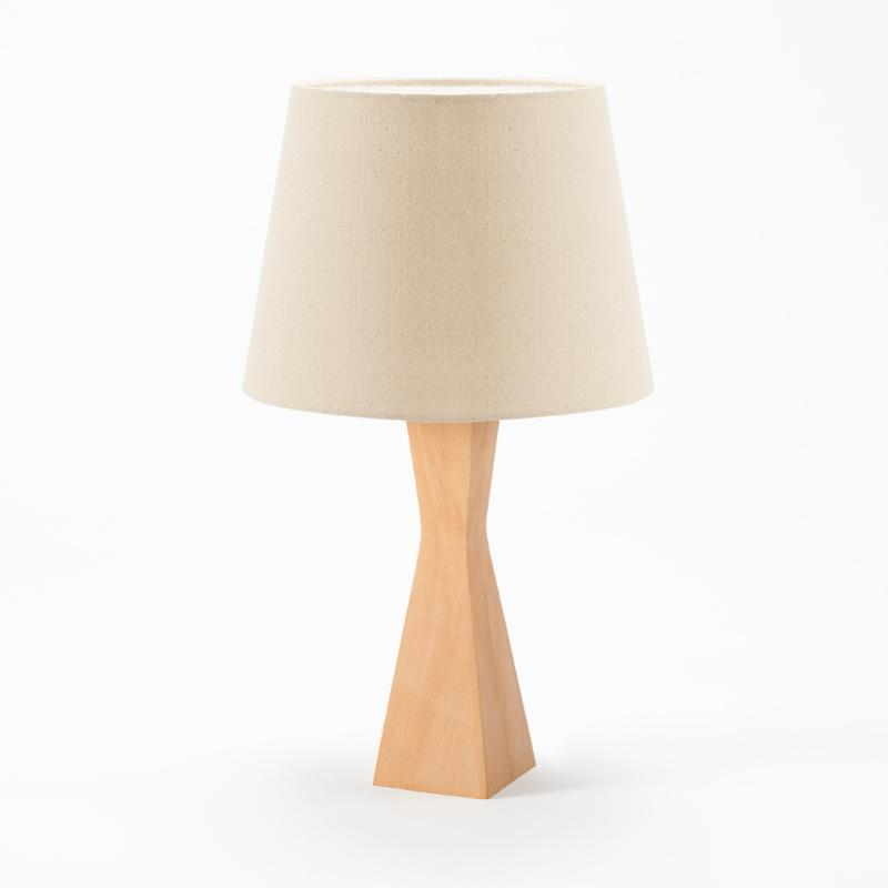 Simple Modern Lamp Solid Wood Table Lamp Bedroom Bedside Creative Fashion Eye-protection Night Light With Light Source