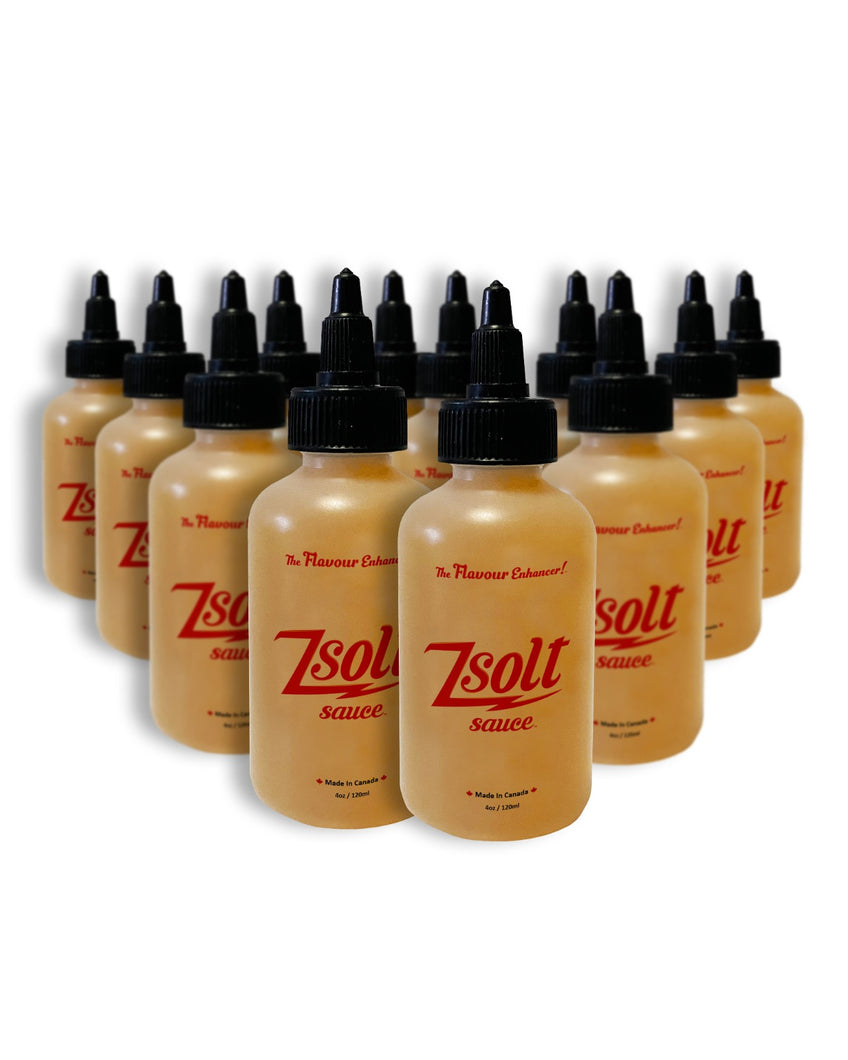 Case of 12 120 ml bottles of Zsolt Sauce
