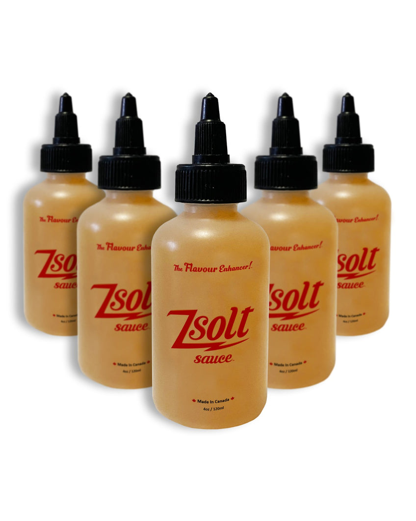 5 Pack of 120ml of Zsolt Sauce
