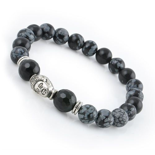 Natural Stone Buddhist Buddha Meditation Beads Bracelet