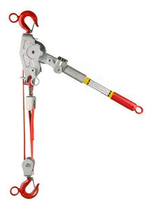 1 1/2 Ton Web Strap Hoist w/ Hot Stick Rings