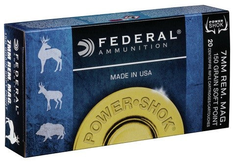 FEDERAL 7MM REM. MAG. 150GR. SP
