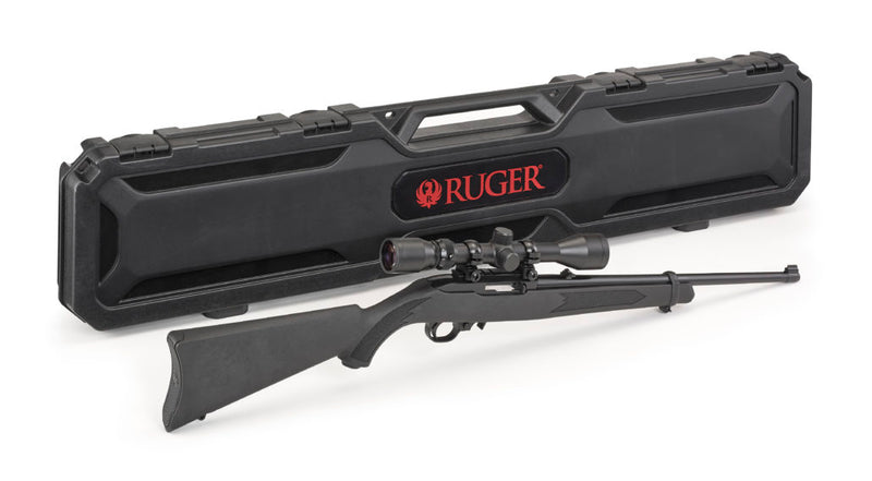 "RUGER 10/22 - 22LR SYNTHETIC 18.5"" - -Scope Combo with Case"