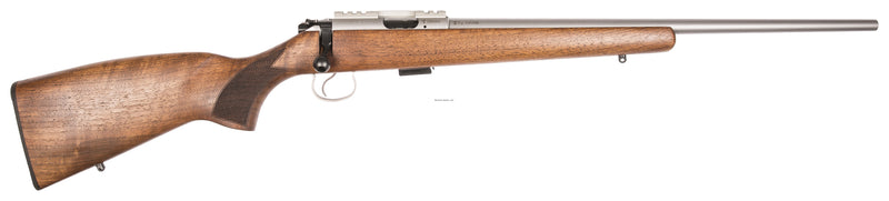 "CZ 455 LUX Bolt Action Rifle, 22 LR, 21"" Bbl, Walnut Stock, S/S Barrel"