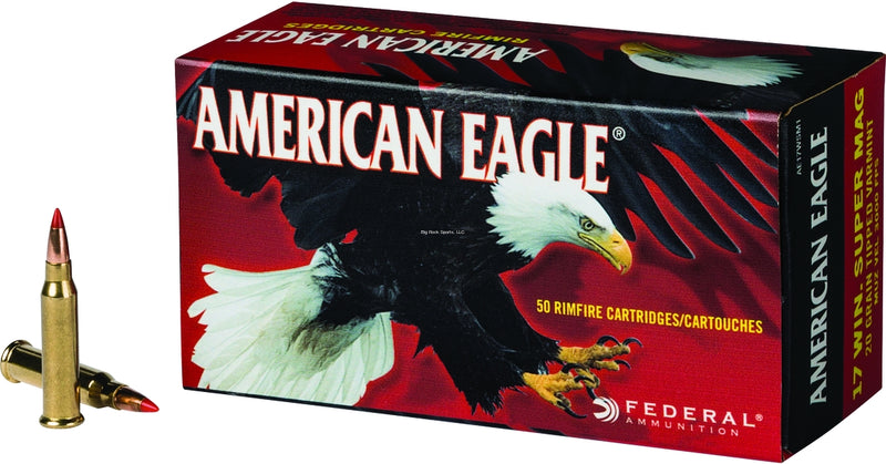 Federal AE5022 American Eagle Rimfire Rifle Ammo 22 LR, Solid, 40 Grains, 1240 fps, 50 Rounds, Boxed