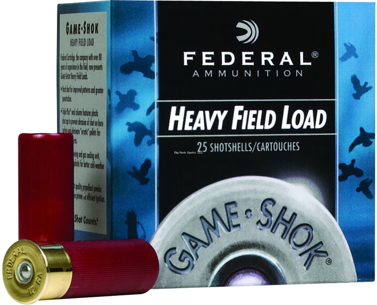 Federal H123-4 Game-Shok Upland - Heavy Field Shotshell 12 GA, 2-3/4 in,  No  4, 1-1/8 oz, 3 22 Dr, 1255 fps (089883)