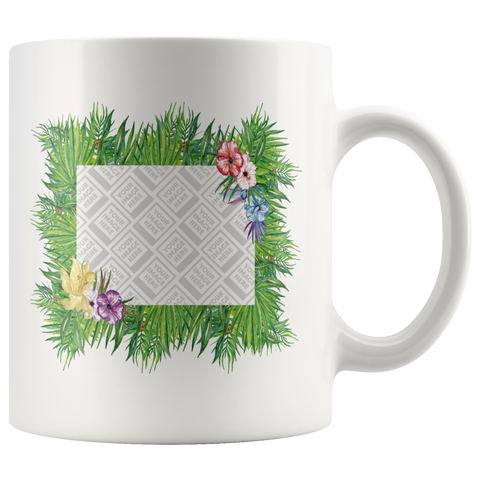 Floral Bouquet - Add Your Own Image  and Create Your Custom Coffee Mug