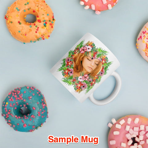 Image of Floral Bouquet - Add Your Own Image  and Create Your Custom Coffee Mug