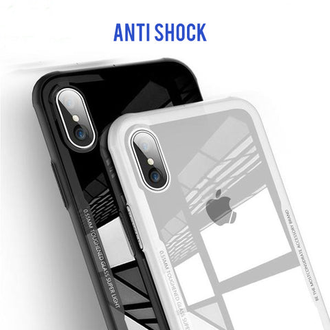 Tempered Glass Phone Case For iPhone X Xs Max Transparent Protective Glass Cases For iPhone 8 7 Plus Cover Coque Capinha