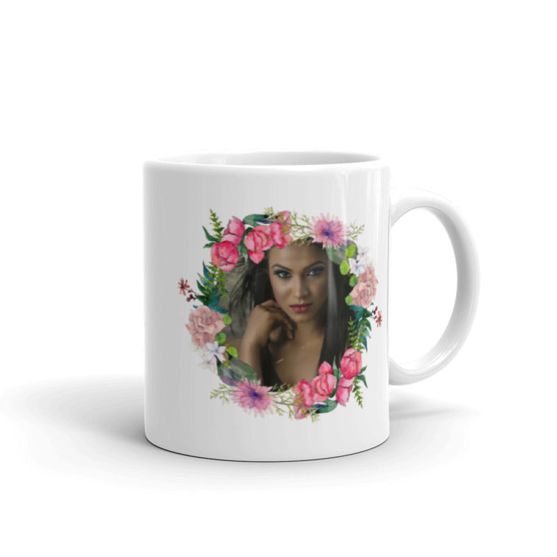 Water Color Bouquet - Add Your Own Photo / Image For a Unique Coffee Mug Gift