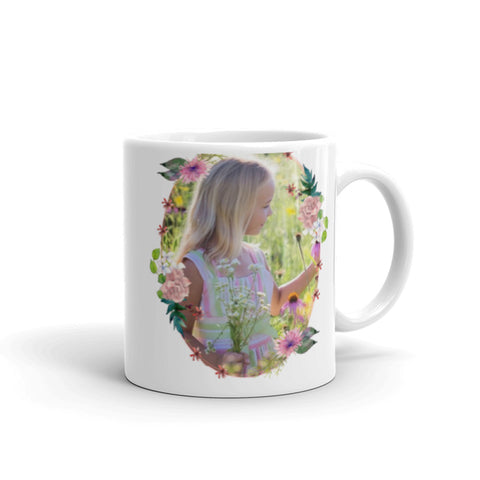 Image of Water Color Bouquet - Add Your Own Photo / Image For a Unique Coffee Mug Gift