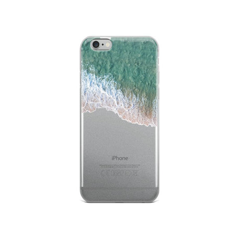 Iphone 6 Plus/6S Plus Case -Iphone 7/8 - Iphone 7 Plus / 8 Plus - Iphone X/Xs - Iphone XS Max Case With Sea Foam Froth On Beach iPhone 6/6s