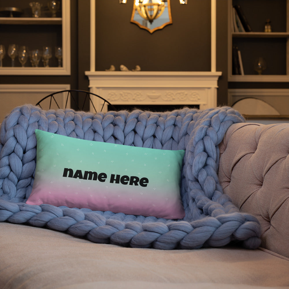 Designer Pillow Basic Pillow - Personalised - Your Name Here