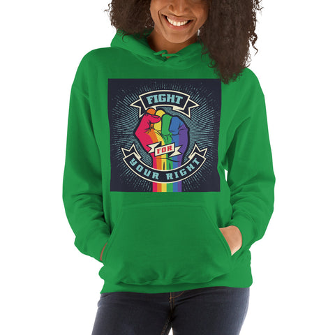 Fight For Your Right | Hooded Sweatshirt | Celebrate Diversity | LGBT Hoodie | Gay Pride Hoodie | Love Hoodie | Lesbian Hoodie