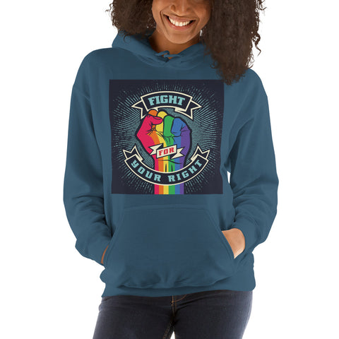 Image of Fight For Your Right | Hooded Sweatshirt | Celebrate Diversity | LGBT Hoodie | Gay Pride Hoodie | Love Hoodie | Lesbian Hoodie