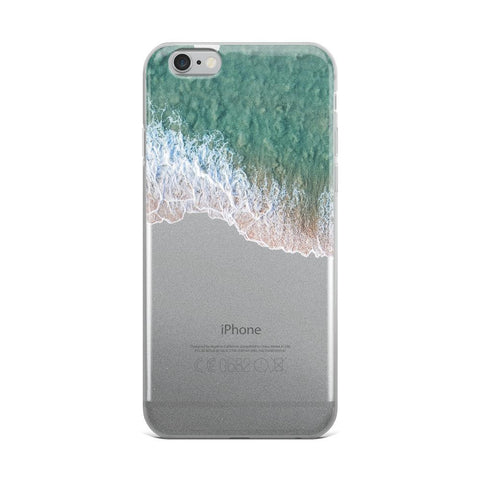 Iphone 6 Plus/6S Plus Case -Iphone 7/8 - Iphone 7 Plus / 8 Plus - Iphone X/Xs - Iphone XS Max Case With Sea Foam Froth On Beach iPhone 6 Plus/6s Plu