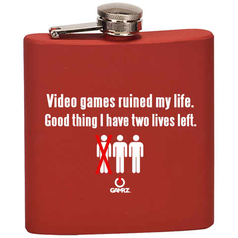 Image of Video Games Ruined My Life Flask
