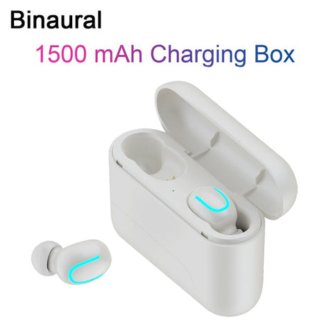 Image of Wireless Headphones 5.0 Stereo Earbuds Bluetooth Earphone Headphones TWS Wireless Bluetooth Headset with Charging Box