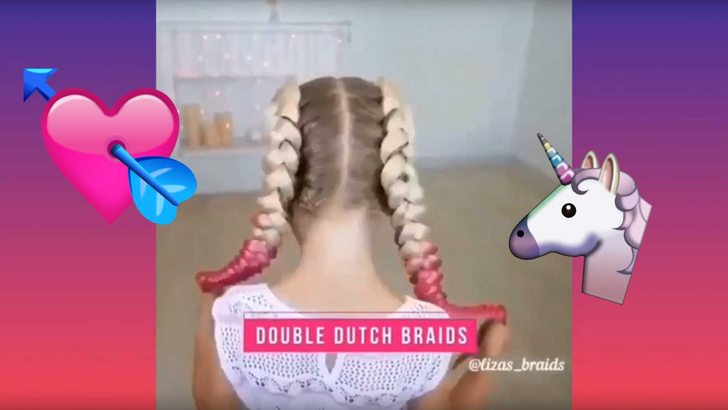 Double Dutch Braids with Hair Extensions Video Tutorial
