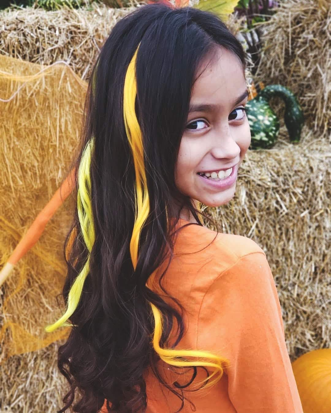 Candy Corn Curls 6 Pack Clip-in Hair Extensions