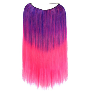 Product shot of Tutti Fruity Straight Purple to Pink ombre hair extensions