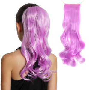 Light Purple Ponytail Extension, orchid, lavender colored, light purple synthetic hairpiece