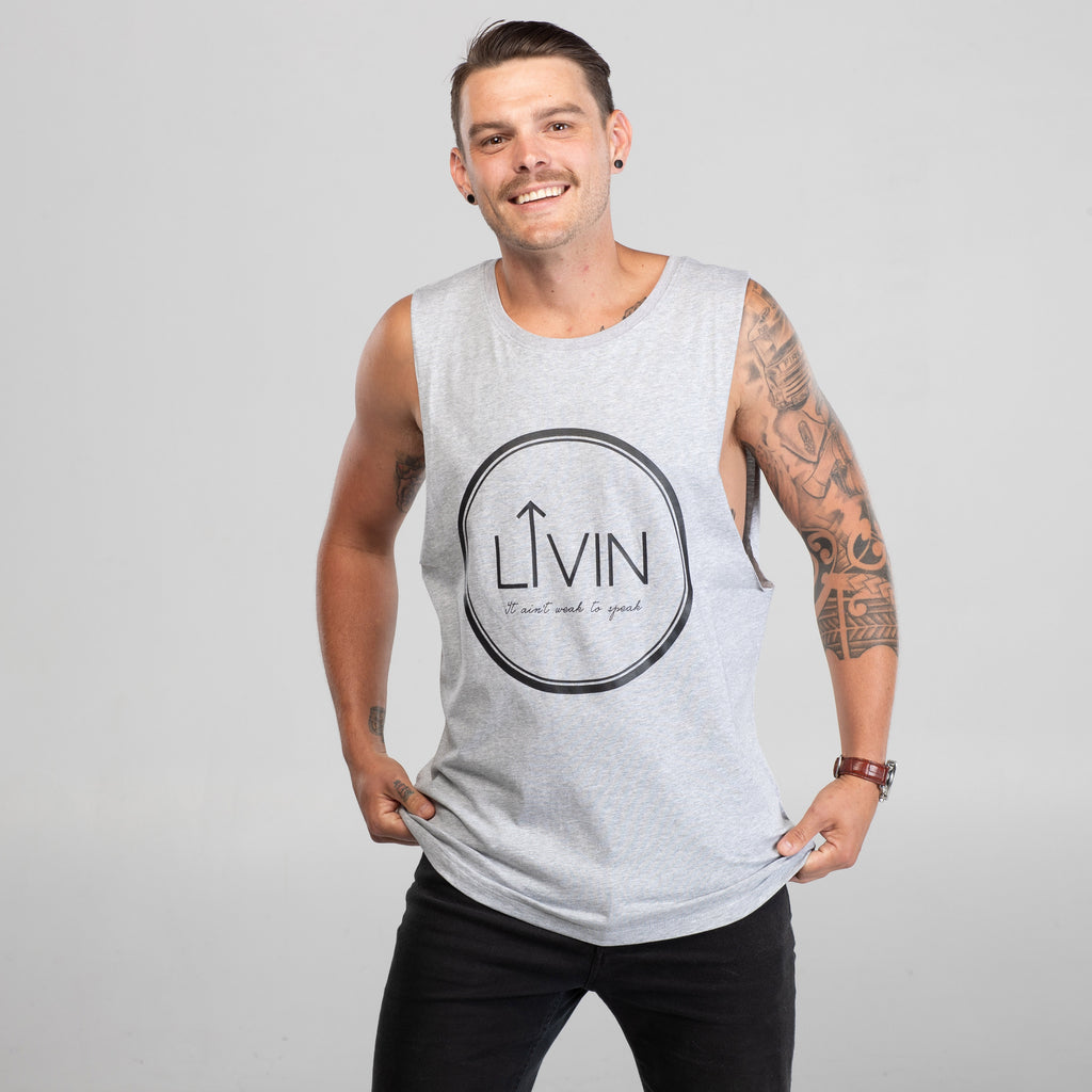 Halo Tank Grey by LIVIN