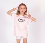 Kids Smiley Tee - Pink