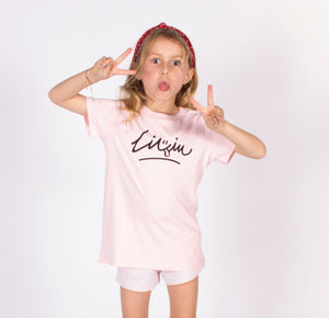 Kids Smiley Tee - Pink by LIVIN