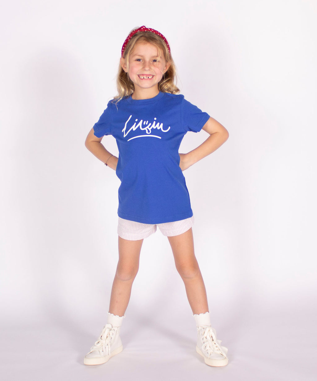 Kids Smiley Tee - Blue by LIVIN