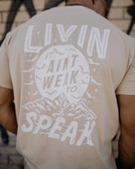Mountain Tee Tan by LIVIN