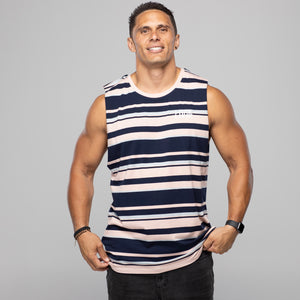 Vision Tank Navy Stripe by LIVIN