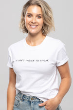 Speak Up Tee White by LIVIN