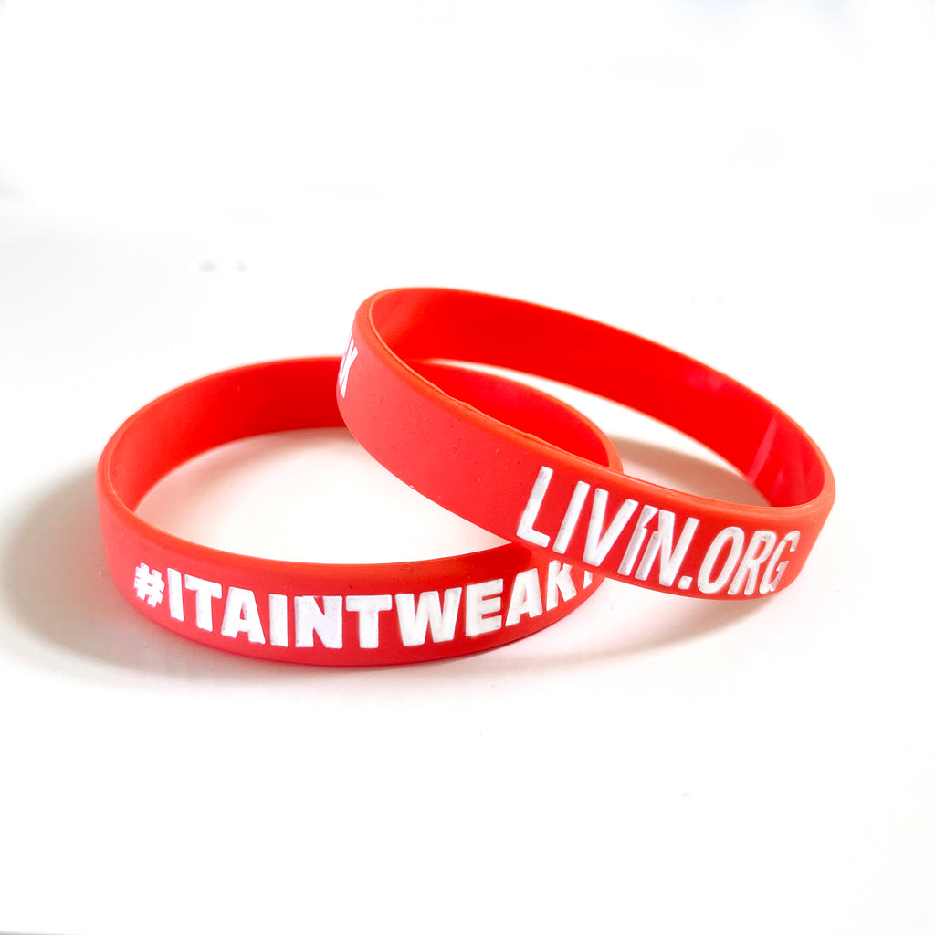 LIVIN Wristband Red - 20 Pack
