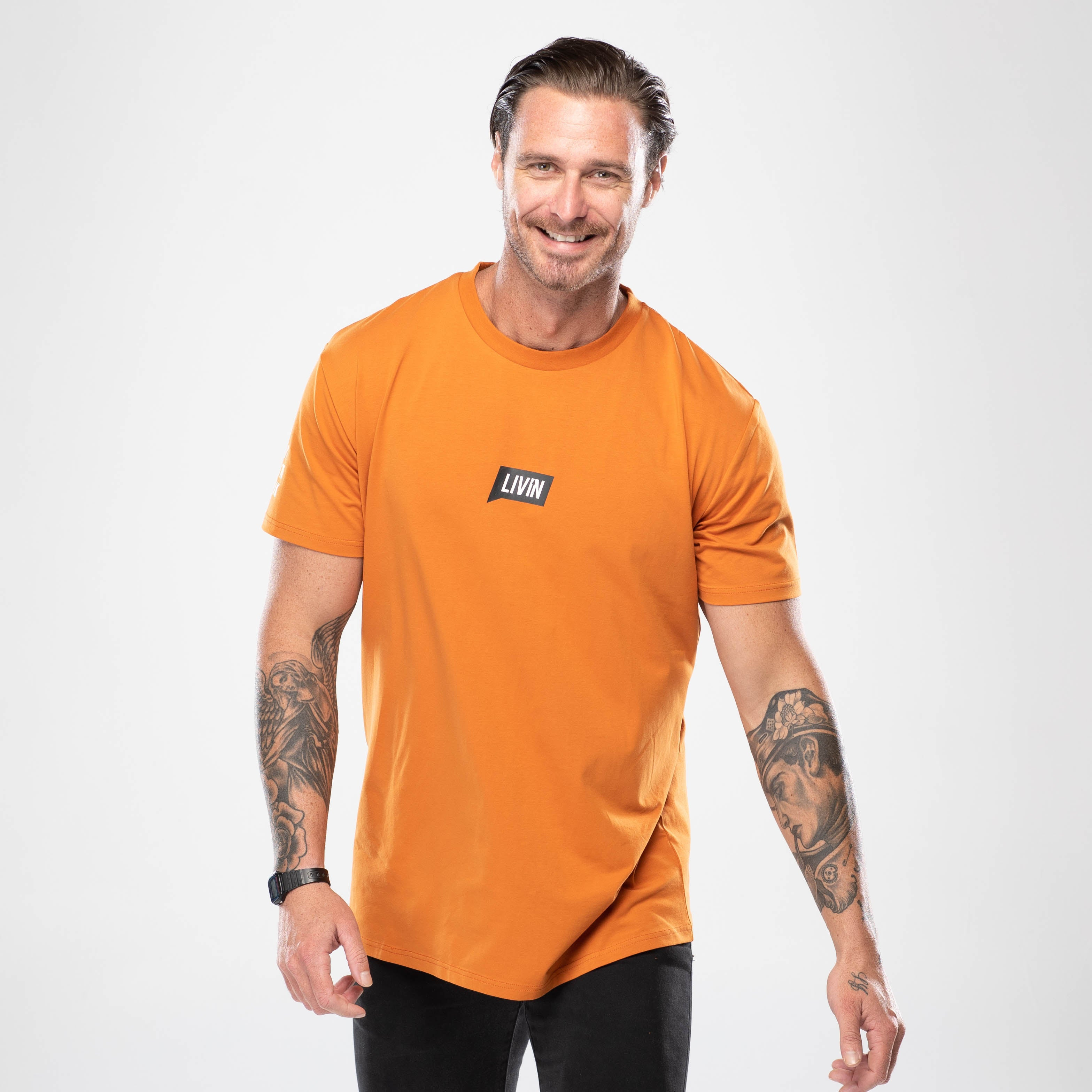 Signature Tee Burnt Orange by LIVIN