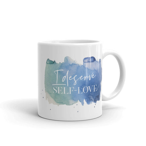 I Deserve Self Love Mantra Mug