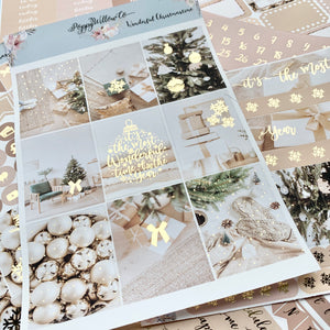 Wonderful Christmastime with Light Gold Foil