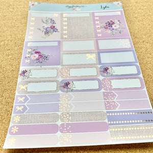Lyla Monthly for Erin Condren with Light Gold or Rose Gold Foil