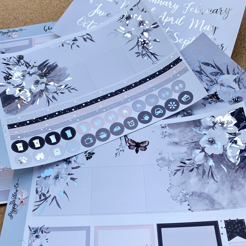 Ghost Monthly for Erin Condren with Silver Foil
