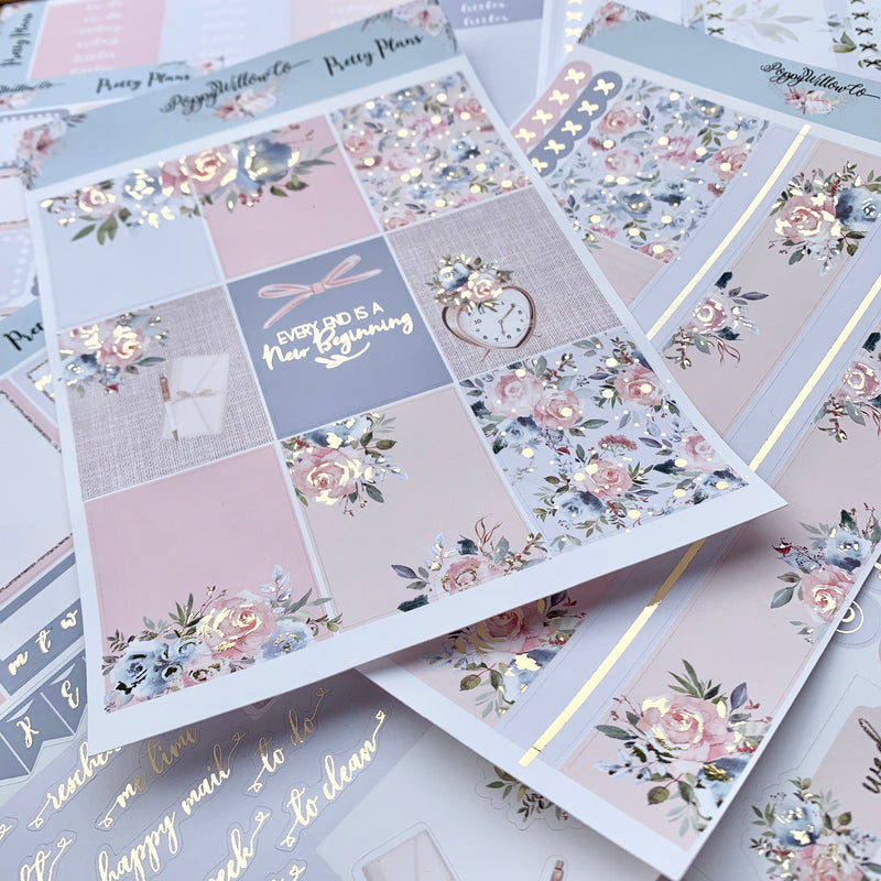 Pretty Plans with Light Gold Foil