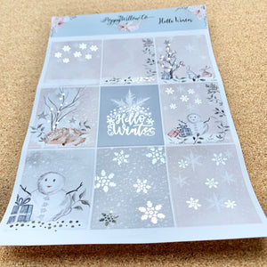 Hello Winter with Silver Foil