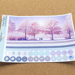 Winter Wishes Monthly for Erin Condren with Premium Silver Holographic Foil
