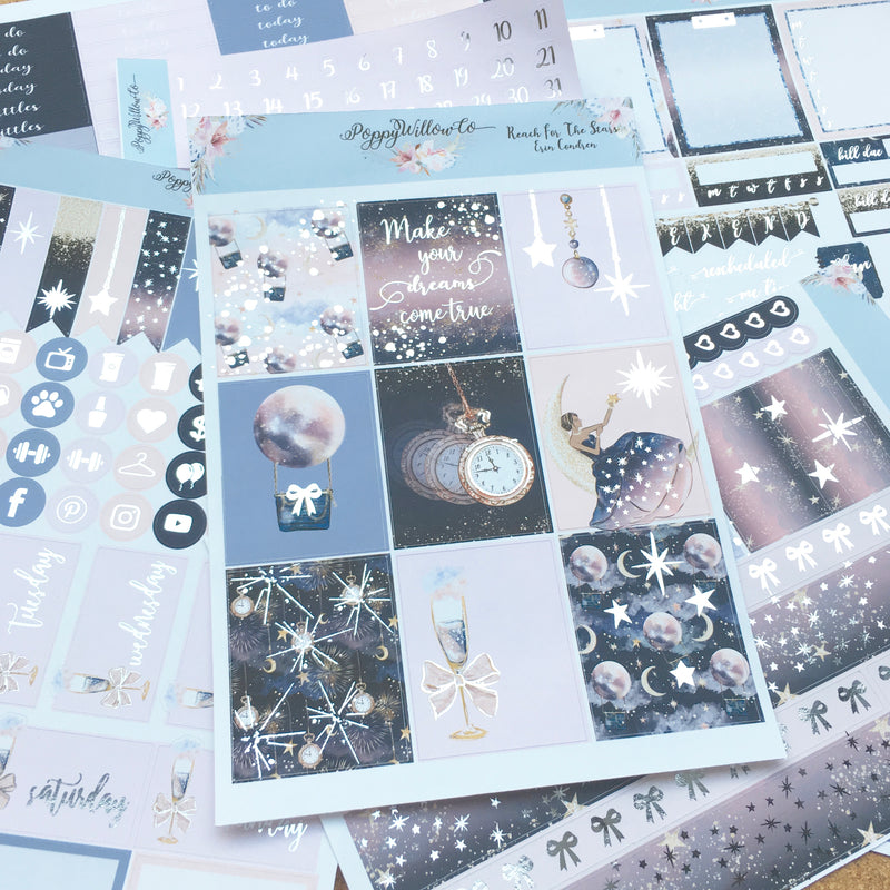 Reach For The Stars with Silver Foil
